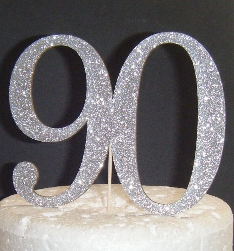 90 Cake Topper