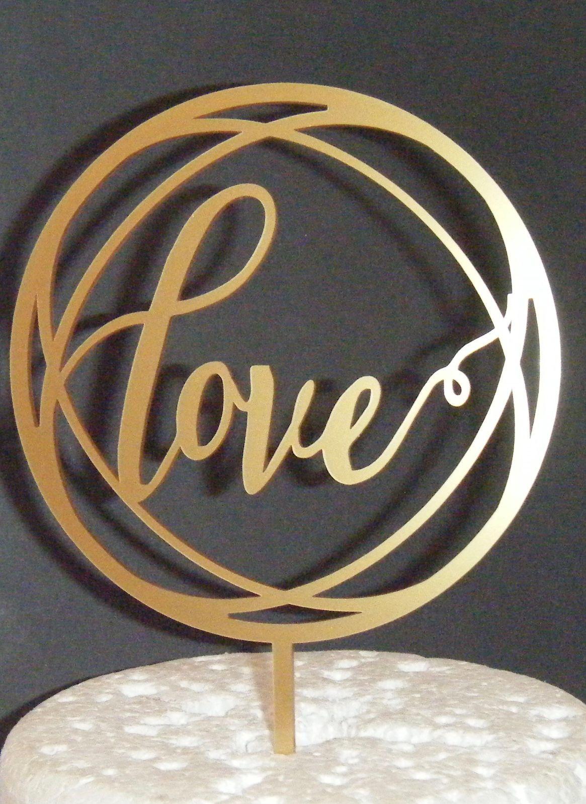 Love Circle Cake Topper