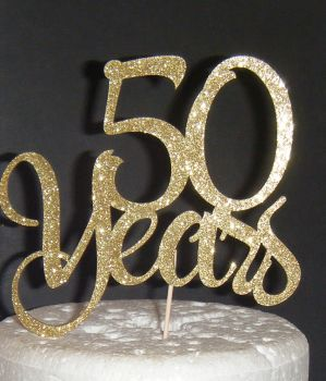 ..... years  Cake Topper 10, 21, 30, 40, 50, 60, 70etc