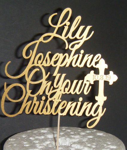 Custom name - On your Christening Cake topper