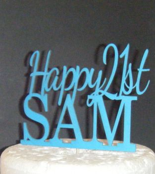 Happy Age and Name  Topper Custom made