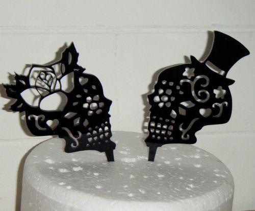 Sugar Skulls Couple Wedding Cake Topper