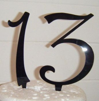 13 Cake Topper 2  (Sold design Exactly as shown)