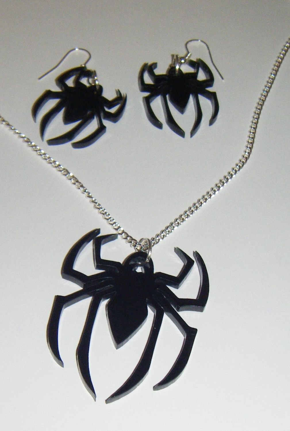 Spider Earring and Pendant set Necklace
