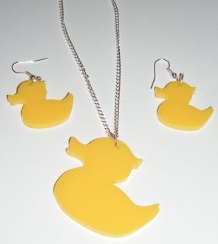 Duck Earring and Pendant set  Necklace