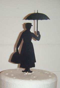 Mary Poppins Silhouette Cake Topper  2