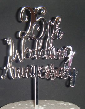ANY number 25th 40th 50th Wedding Anniversary Cake Topper