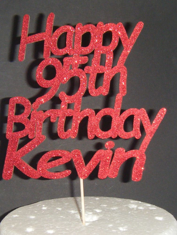 Happy Number Birthday Name Cake Topper (com)