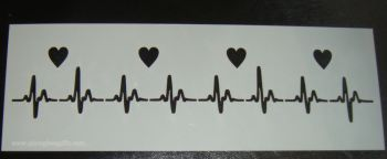 ECG Heart Beat Design Cake decorating stencil Airbrush Mylar Polyester Film
