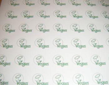 A4 Sheet of Vegan Stickers