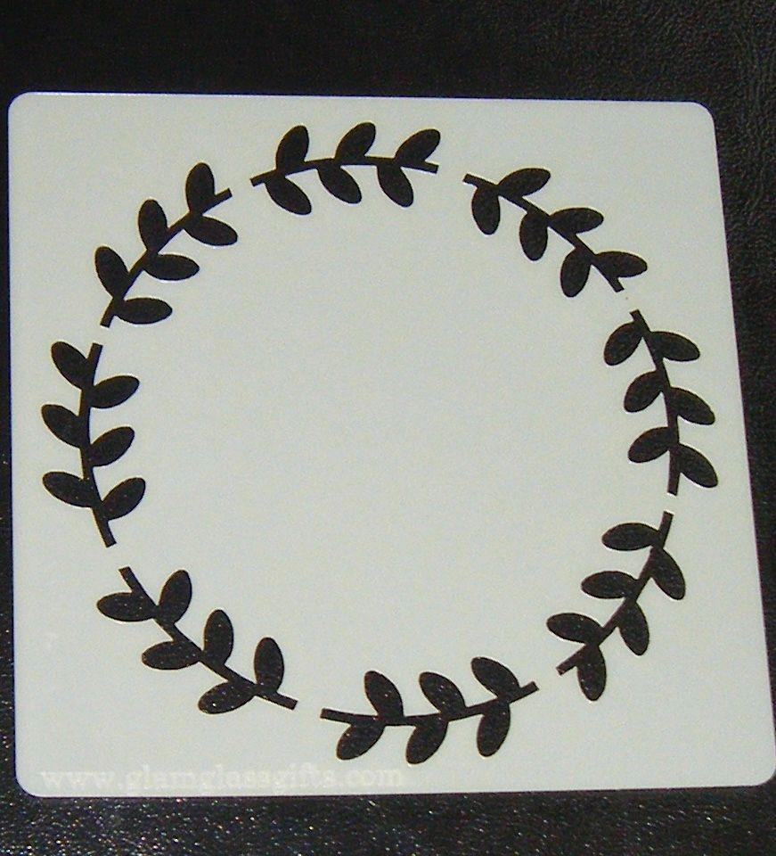 Circle Leaf Motif  2 Cake Decorating Stencil Airbrush Mylar Polyester Film