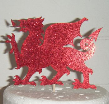 Dragon Welsh - Silhouette Cake Topper