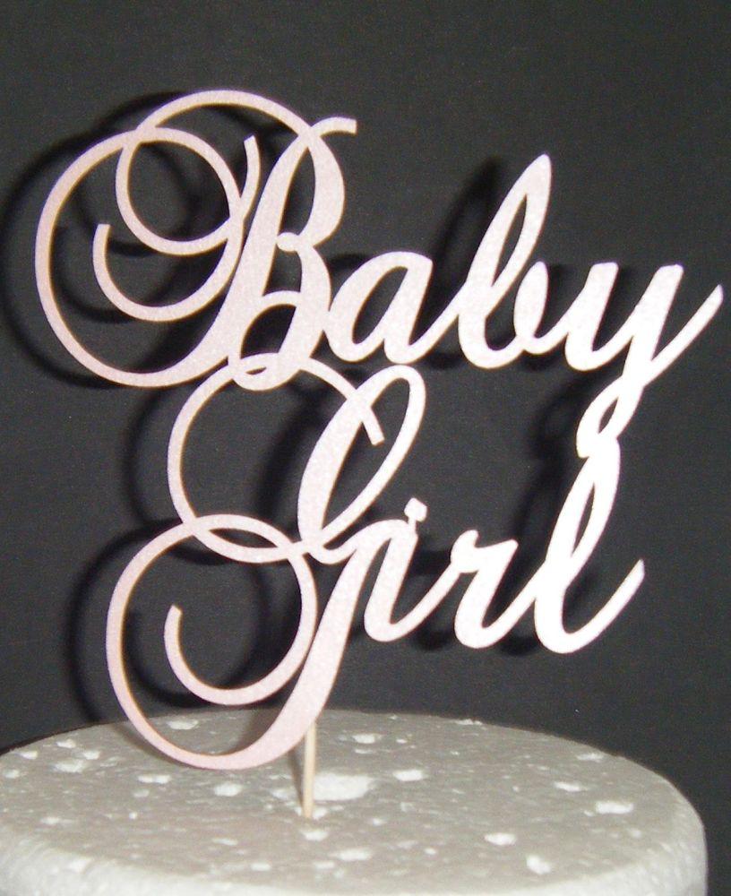 Baby Girl Shower CakeTopper - 3