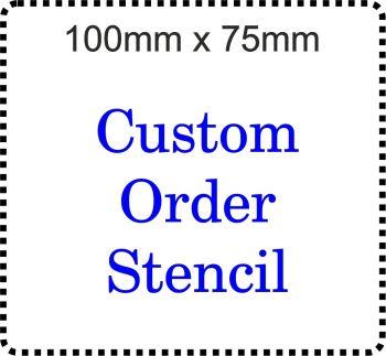 Custom order Cake Bespoke Stencil 100mm x 75mm