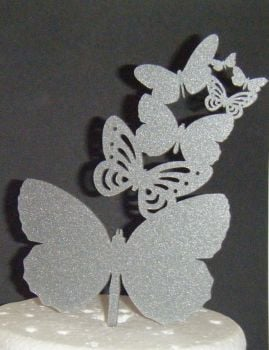 Butterfly Cascade Topper Silhouette Cake Topper