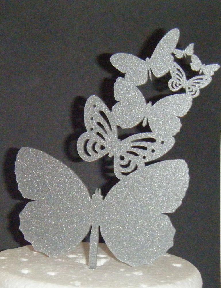 Butterfly Cascade Topper Silhouette Cake Topper