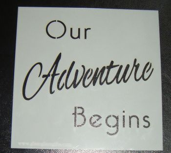 Our Adventure Begins cake or craft stencil