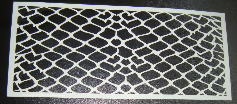 Dragon Scales Cake Stencil Large 5 inch deep