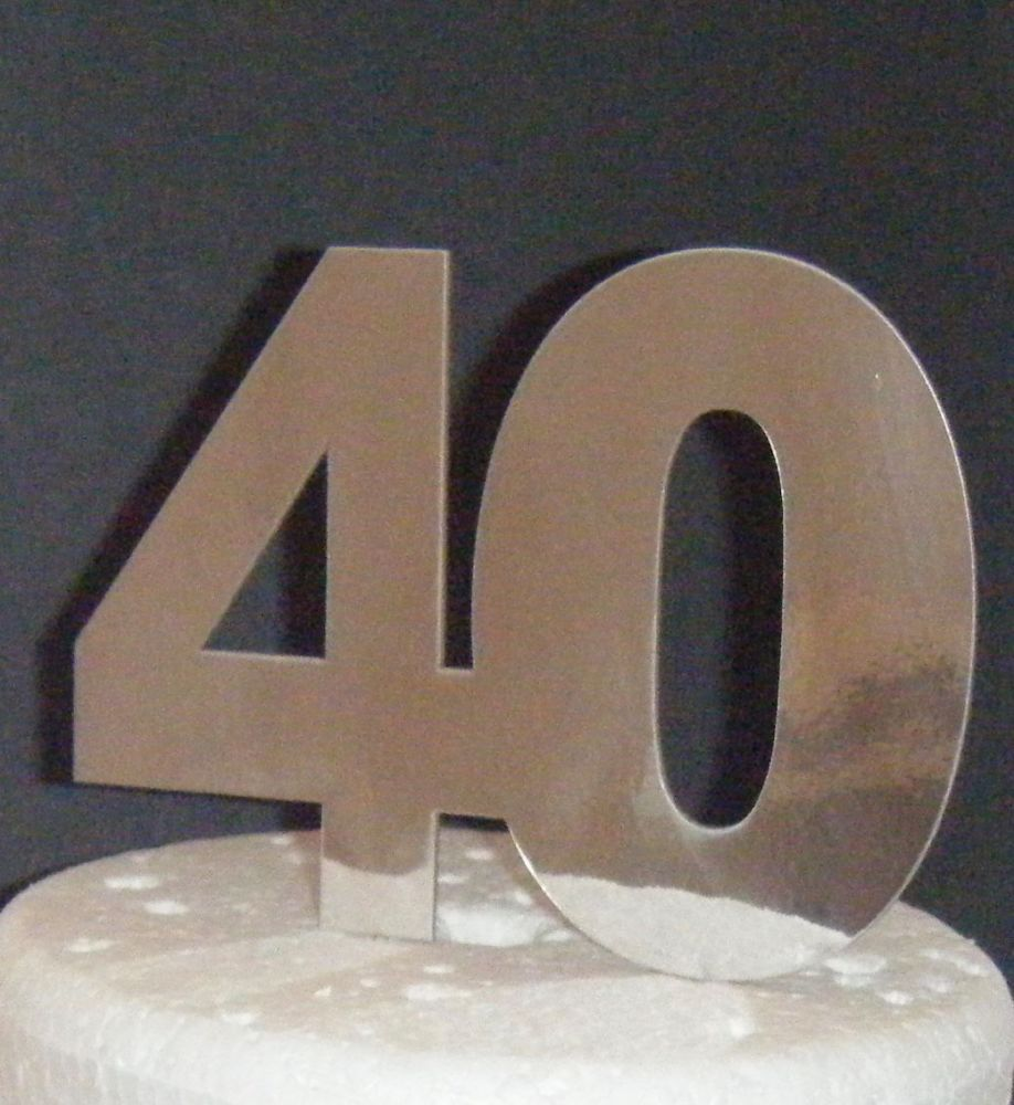 40 Cake Topper 6   (Sold design Exactly as shown)