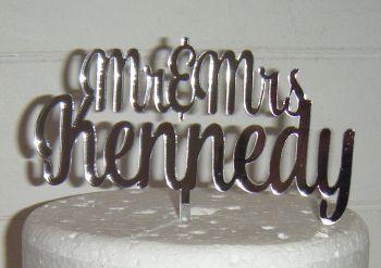 Mr + Mrs Name Cake Topper 5 (or same sex)