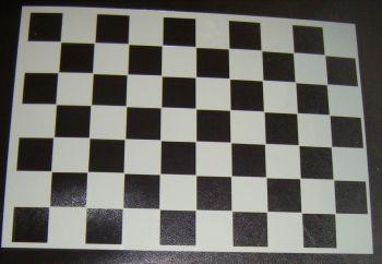 Checkerboard Chess Pattern Cake decorating Stencil Airbrush Mylar Polyester Film