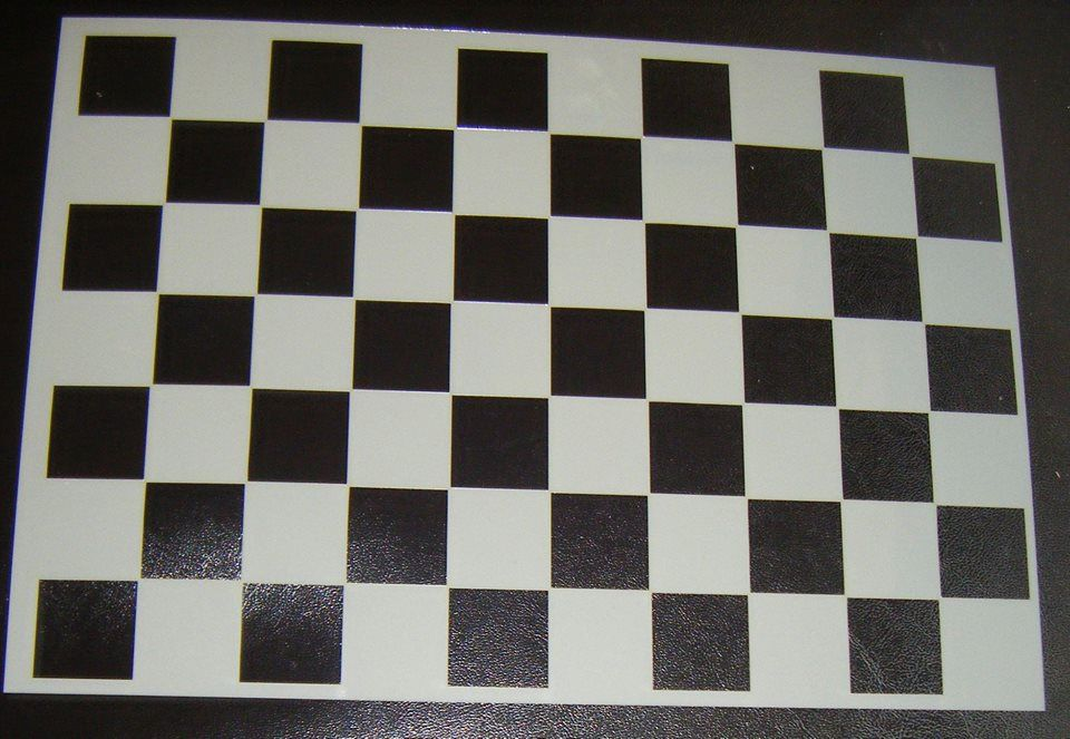 Checkerboard Chess Pattern Cake decorating Stencil Airbrush Mylar Polyester