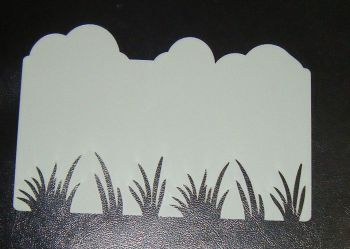 Cloud and Grass Dual Stencil for Cakes or Crafts