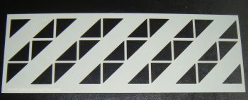 Geometric Triangles Pattern Cake decorating Stencil Airbrush Polyester Film