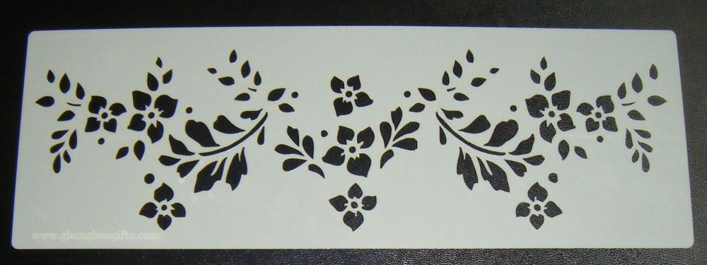 Flower spray Pattern 5 Cake decorating stencil Airbrush Mylar Polyester Fil