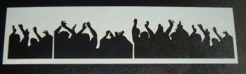 Crowd Audience Design - Airbrush Mylar Polyester Film