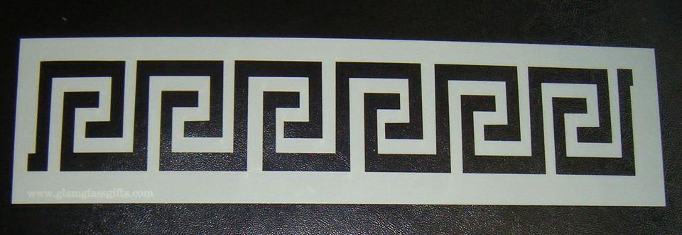 Greek Design Border Stencil for Cake or Crafts
