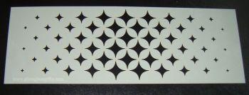 Star Burst Diamond Design Cake decorating stencil Airbrush Mylar Polyester Film