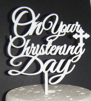 On Your Christening day Cake topper