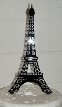 Eiffel Tower Silhouette Cake Topper  3