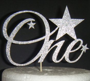 Number One with Stars Cake Topper    (Sold design Exactly as shown)
