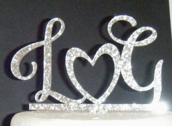 Initials With Heart Letters Topper