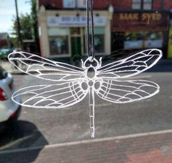 Clear Acrylic Dragonfly