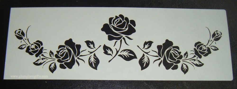 Flower Rose Pattern Cake decorating stencil Airbrush Mylar Polyester Film