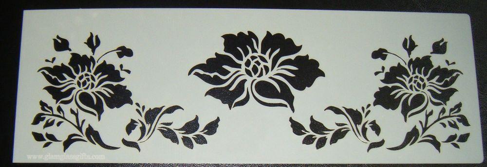 Flower Design Pattern Cake Stencil Airbrush Mylar Polyester Film