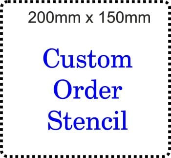 Custom Order Cake Bespoke Stencil 8 inch x 6 inch