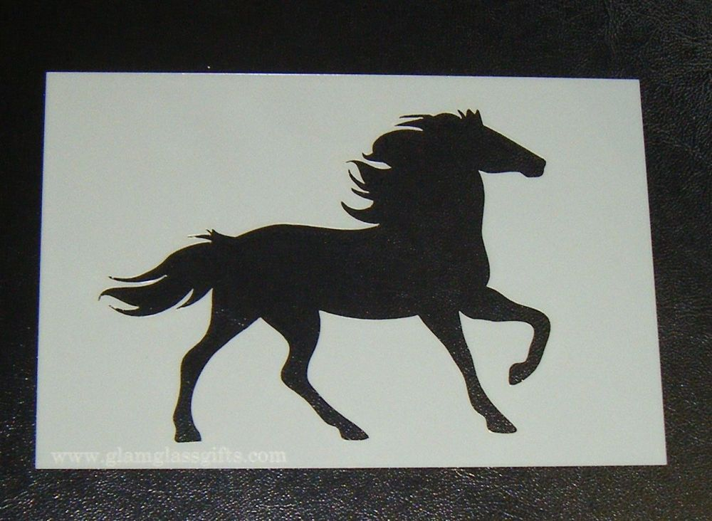 Horse Cake decorating stencil Airbrush Mylar Polyester Film