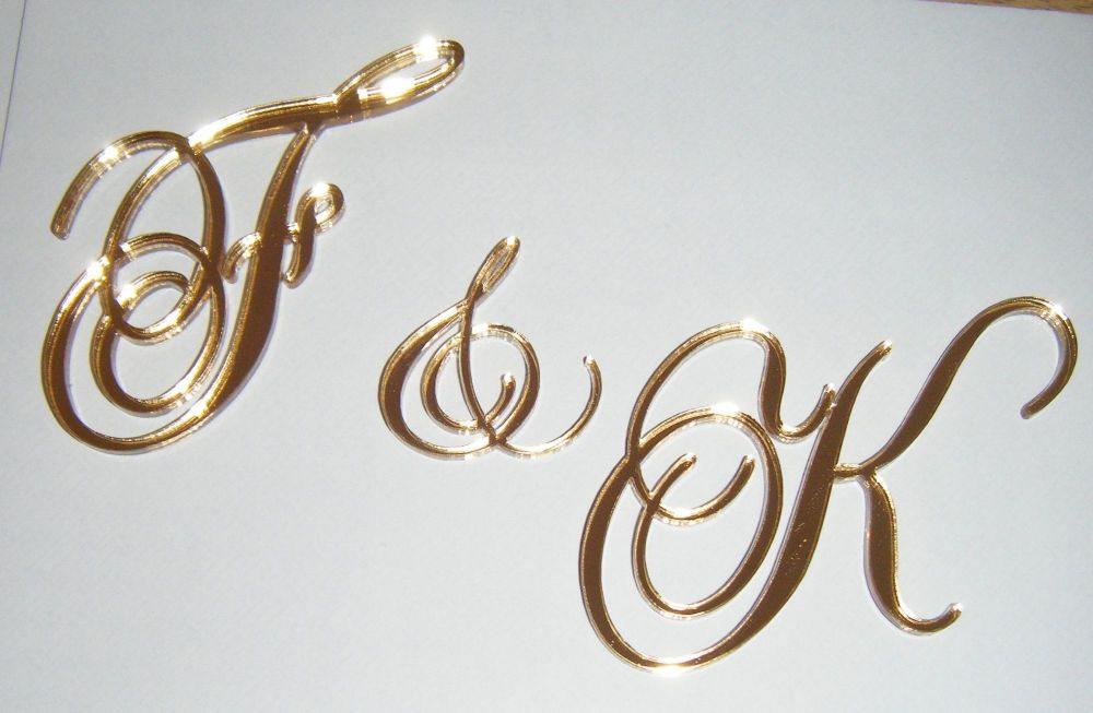 Custom Small Initials Letters for Front of Cake