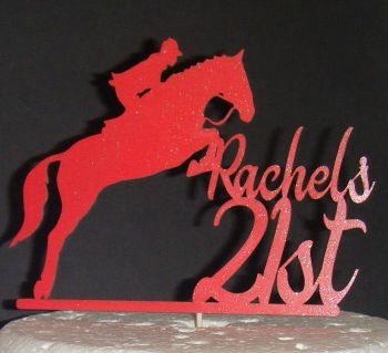 Horse Name Number Topper Custom made