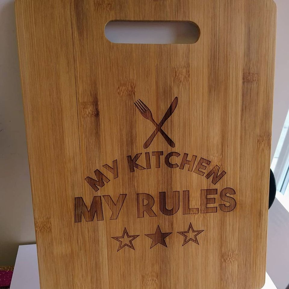 Bamboo Chopping Board - My Kitchen My Rules