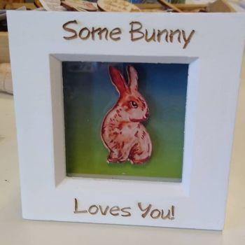 Mini Frame - Rabbit - Some Bunny Loves You!
