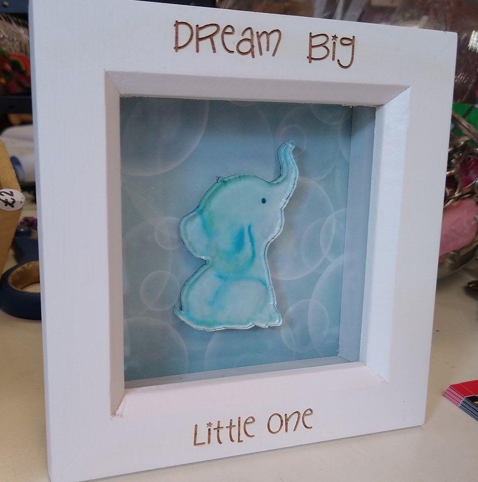 Mini Frame - Elephant - Dream Big Little One