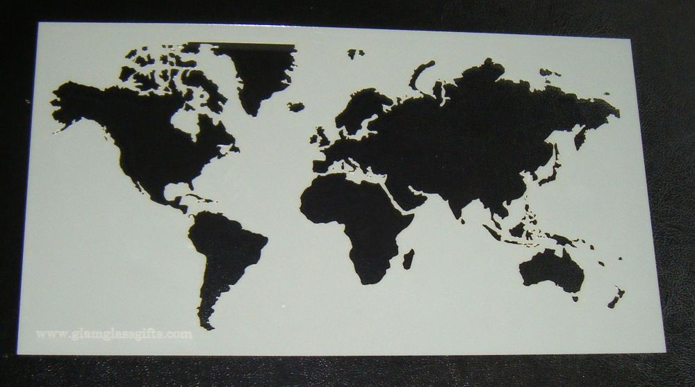 World Map Pattern 2 Cake decorating stencil Airbrush Mylar Polyester Film