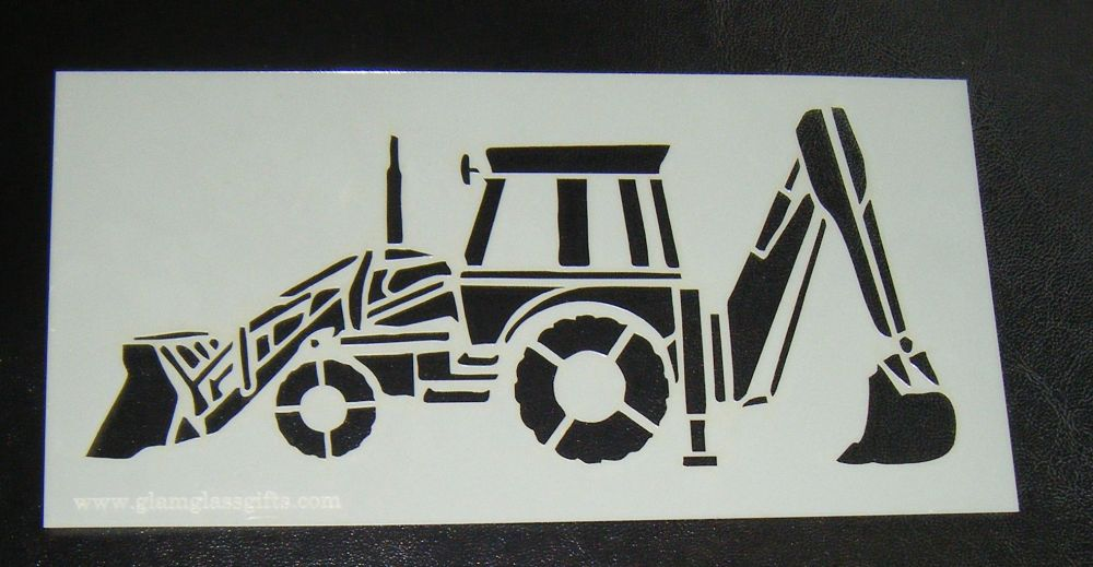 JCB Digger Cake or Craft Stencil
