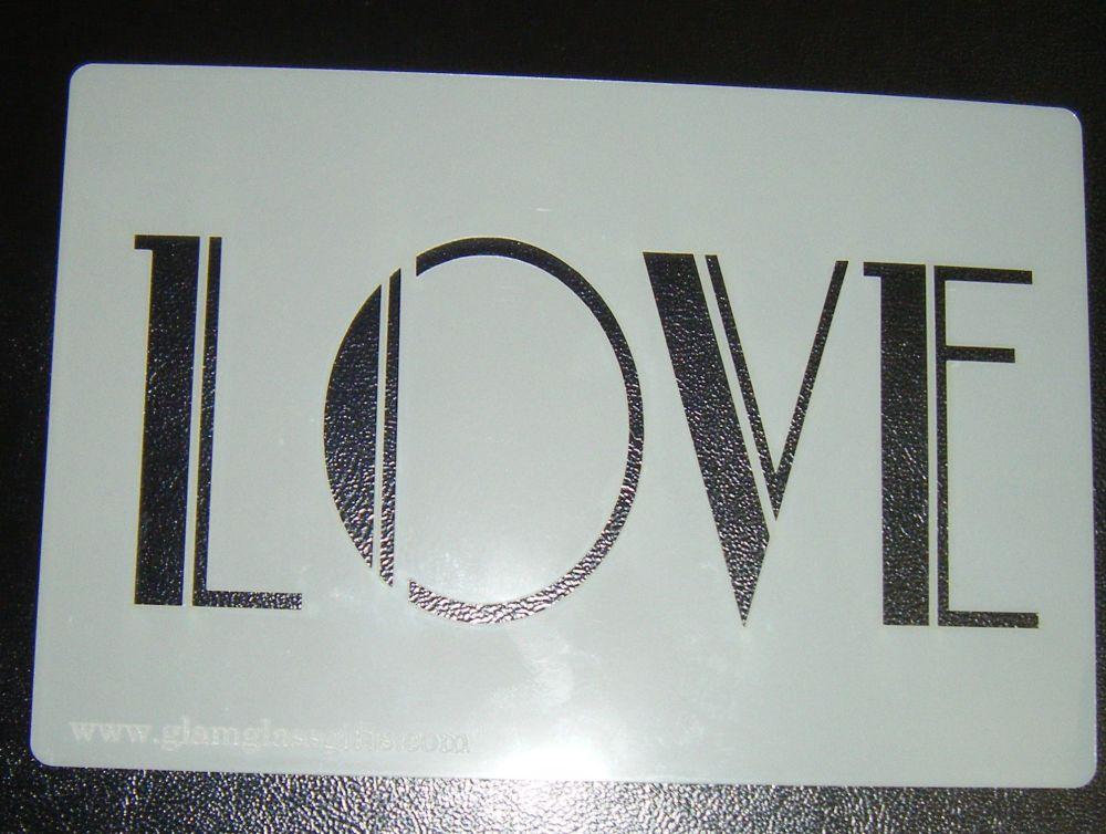 Love Cake Stencil - Art Deco