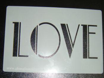 Love Cake Craft Stencil - Art Deco